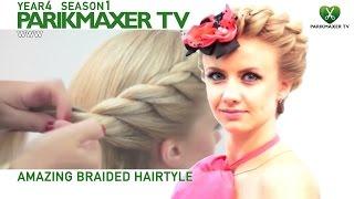 Вечерняя прическа на основе плетения NEW Amazing braided haido  парикмахер тв parikmaxer.tv