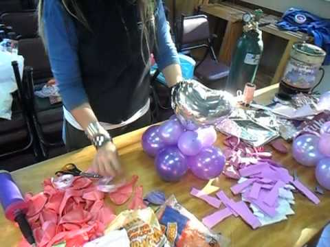 Armado de centro de mesa con corazon metalizado y globos - Como conseguir globos de helio ...