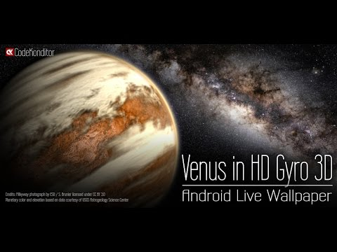 Venus in HD Gyro 3D Live Wallpaper for Android