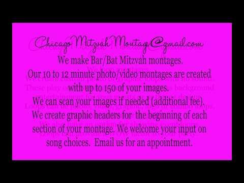 Chicago Bar & Bat Mitzvah Montage Showing & Creation