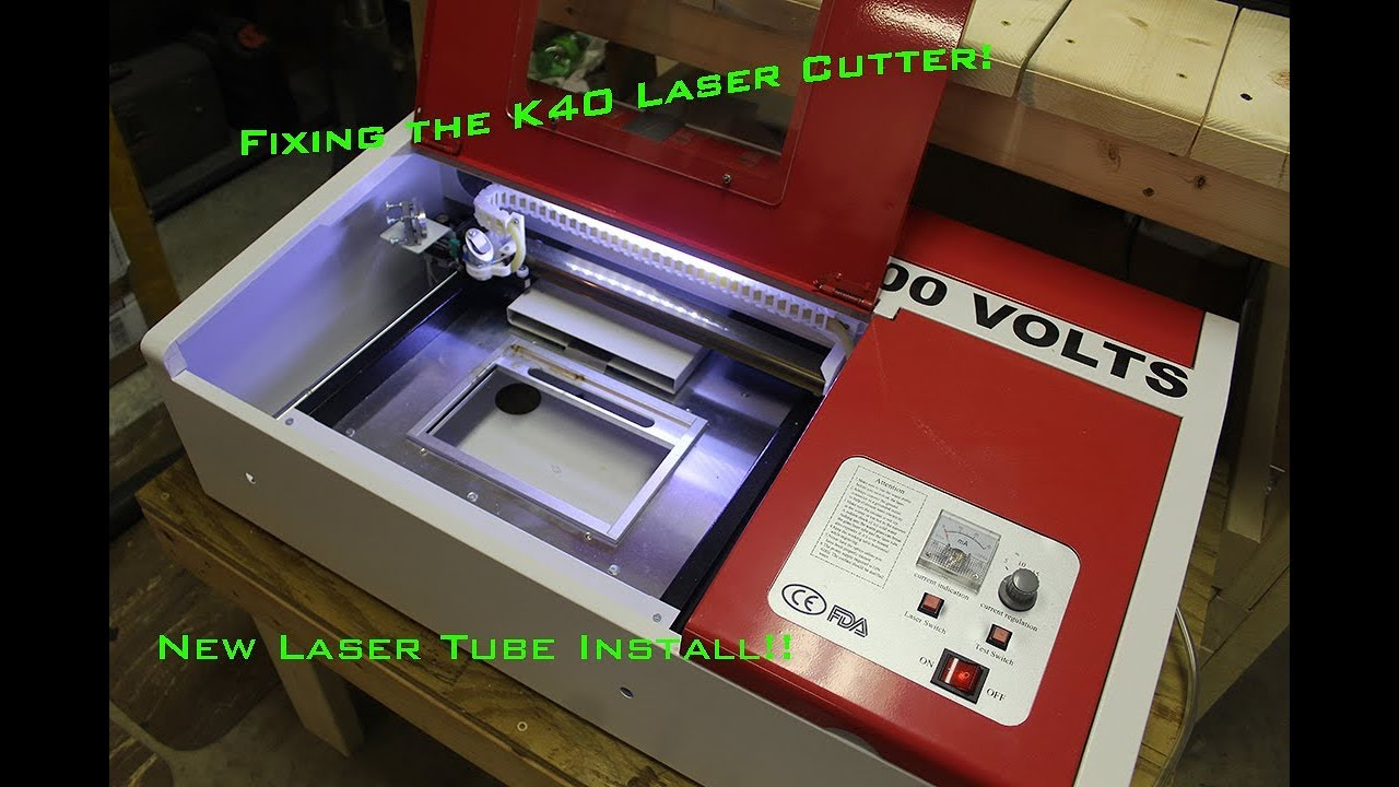 Fixing the K40 Laser │ Installing a new laser tube!