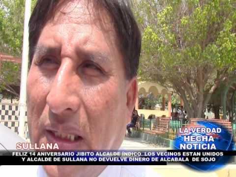FELIZ 14 ANIVERSARIO JIBITO ALCALDE PEDRO ZAPATA INDICO QUE LOS VECINOS ESTÁN UNIDOS
