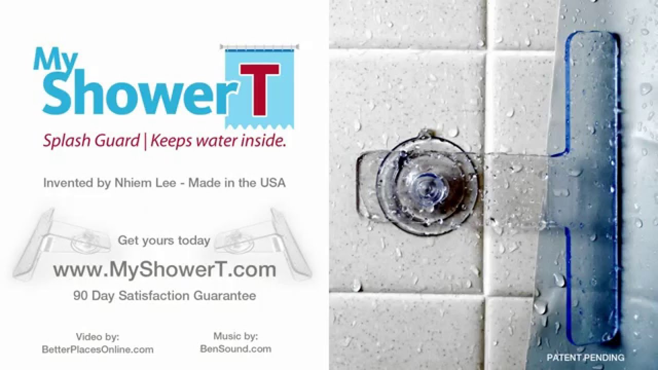 My Shower T Splash Guard - YouTube