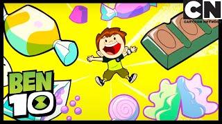 Team  Tennyson and the Candy Store | Tummy Ache | Ben 10 | Cartoon Network