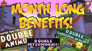 MONTH LONG MEMBER BENEFITS?! (Wizard101 Pet Training)