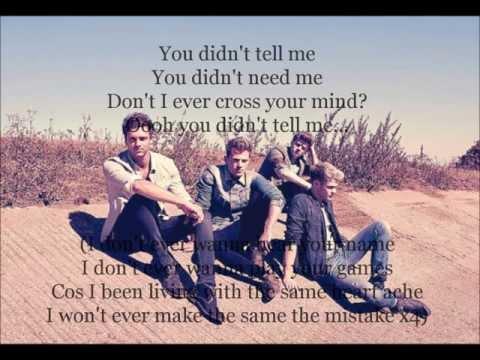 Lirik lagu You Didn't Tell Me