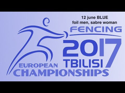 #European Champioships Tbilisi Men Foil/Woman Sabre individual BLUE piste