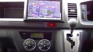 Repeat youtube video アルパイン ビッグX(BIG X) フリップダウンモニターセット 200系ハイエース 動画 ALPINE 8型