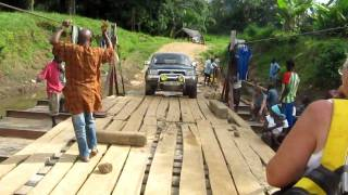 Cable Ferry crossing the Little Scarcies River - Sierra Leone