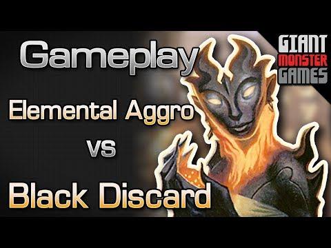 Elemental Aggro -vs- Black Discard - MTGO Gameplay #1