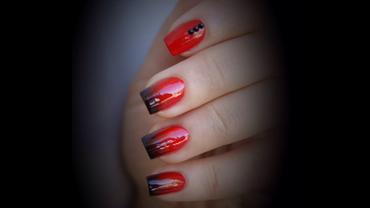 red nails gradient