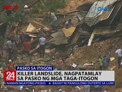 Killer landslide, nagpatamlay sa Pasko ng mga taga-Itogon