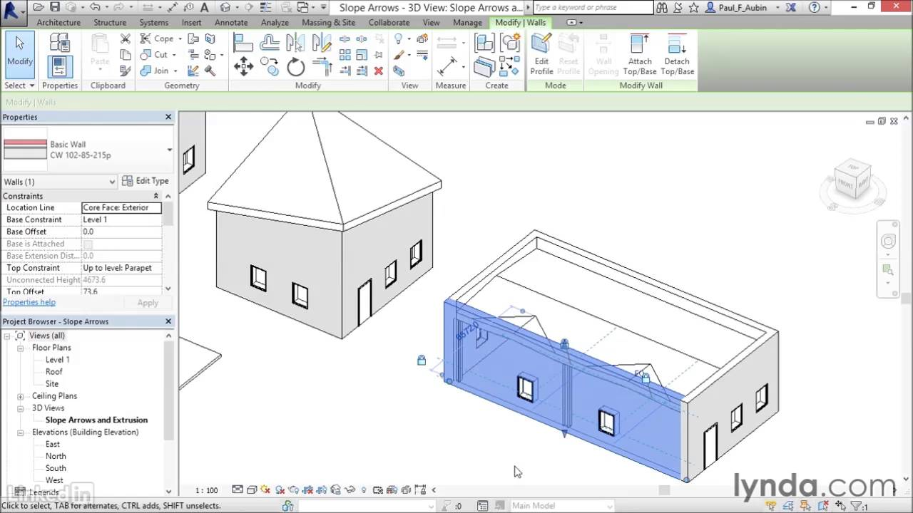 24 Working With Slope Arrows Revit Youtube