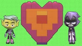 Teen Titans GO! Beast Boy builds Raven a LEGO Heart!