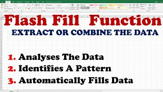 MS Excel 2016 Course, Using the Flash Fill Feature (English Language)