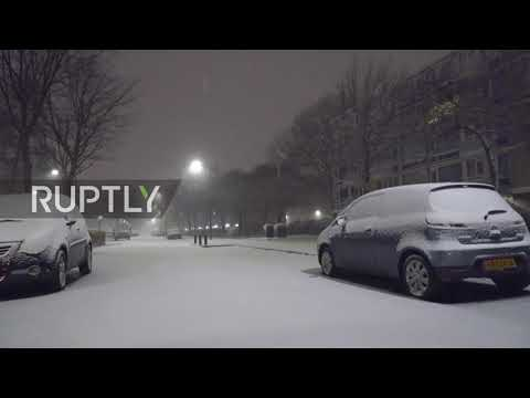 Netherlands: The Hague braces for snow as 'code red' issued