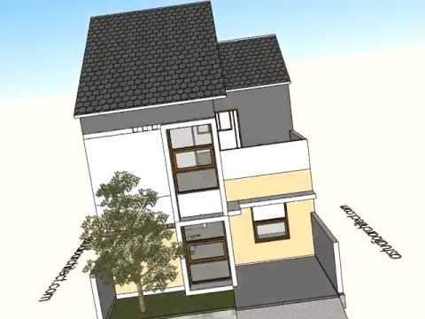 Desain Rumah Tumbuh Dua Lantai 7x11m Avi Youtube