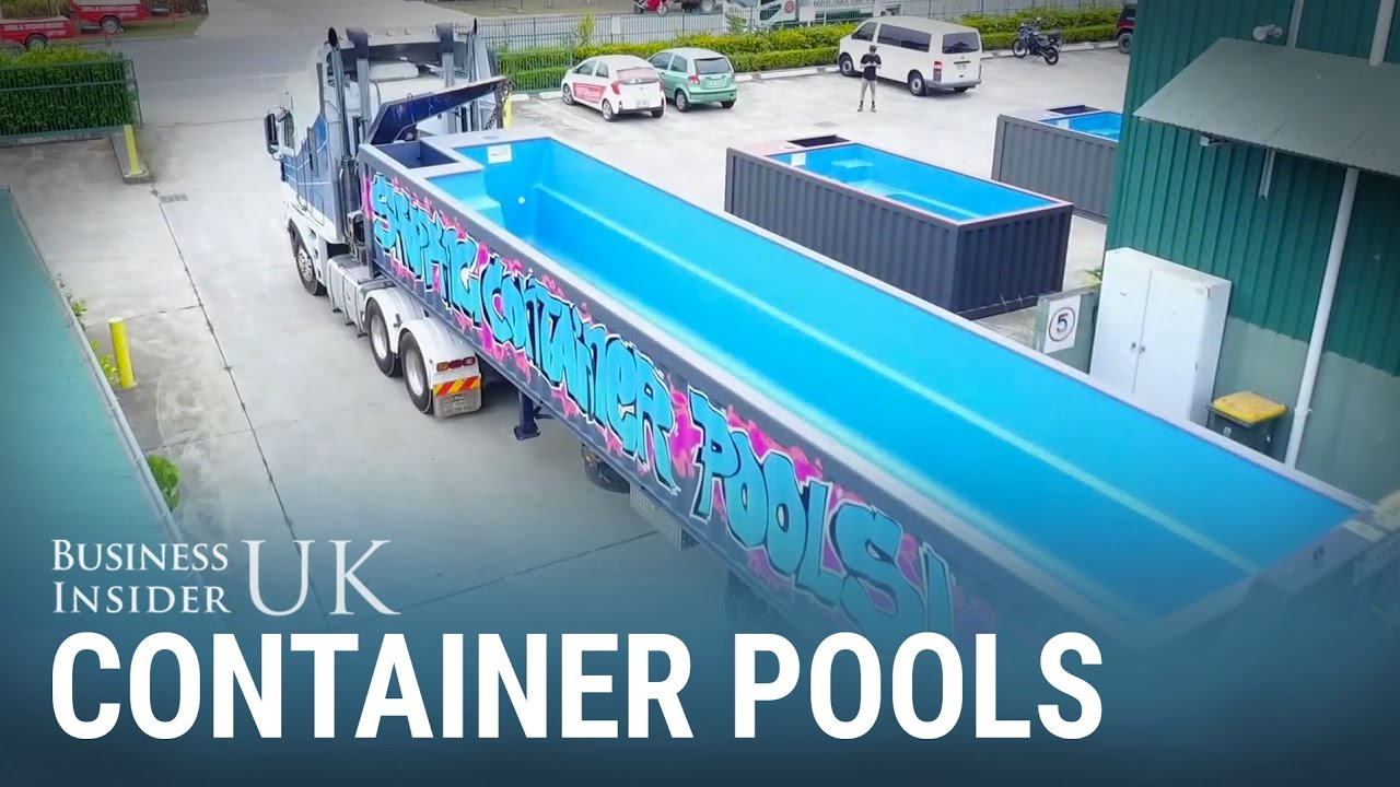 Australians Are Buying Recycled Shipping Containers As Backyard Swimming Pools Youtube
