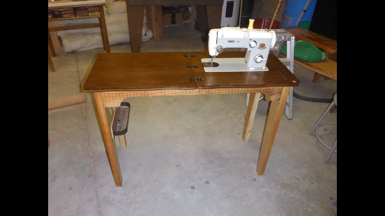Diy making a new base for the pfaff 260 sewing machine Table making ideas