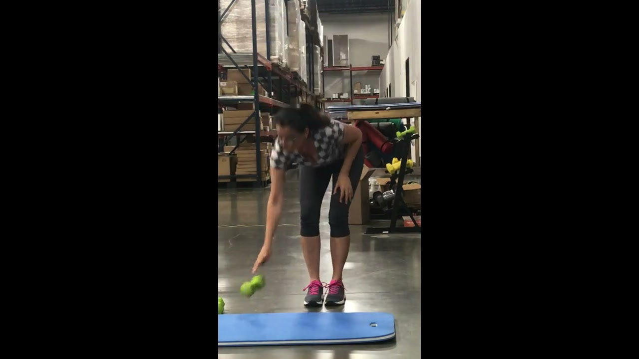 Back with fitness fun at the warehouse!