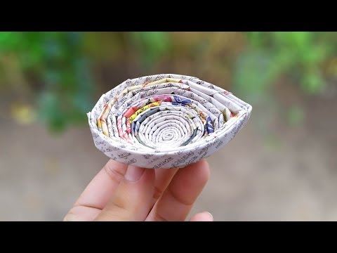 Newspaper craft | How to make a newspaper diwali diya Step by Step For Kids | दिवाली क्राफ्ट