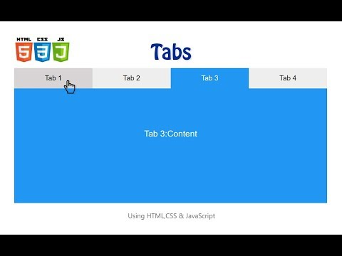 How To Create Tabs Using HTML, CSS And JavaScript