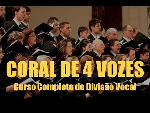 CORAL 4 VOZES DIVISÃO VOCAL Curso Completo Aula de Canto Técnica Vocal Prof. Roberto Akira Taira