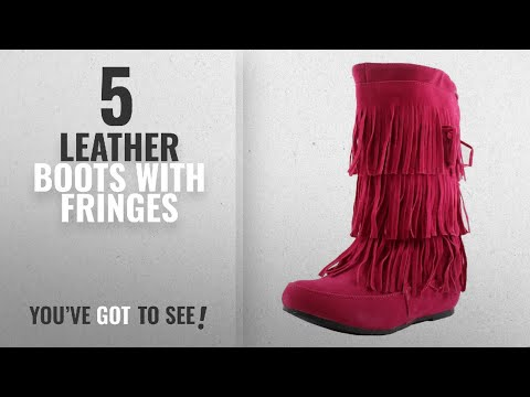 Top 5 Leather Boots With Fringes [2018]: West Blvd Womens LIMA MOCCASIN Boots 3-Layer Fringe Tribal