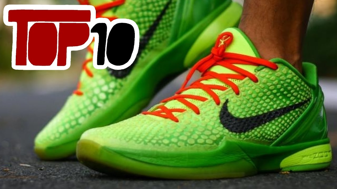 33d622622ee Top 10 Best Nike Kobe Shoes Of All Time - YouTube