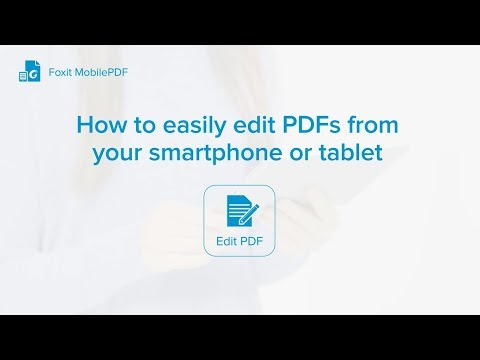 How To Edit PDFs From Your Smartphone Or Tablet