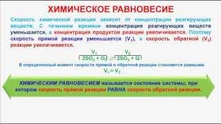 № 179. Неорганическая химия. Тема 19. Химическое равновесие. Часть 1. Химическое равновесие