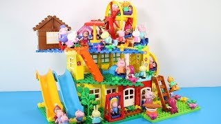 Peppa Pig Building House With Water Slide Toys For Kids - Lego Duplo House Creations Toys #9