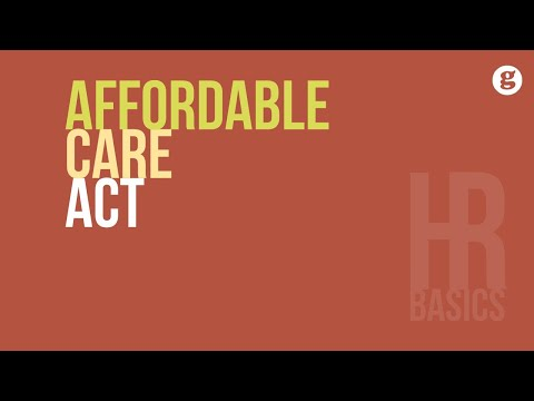 HR Basics: Affordable Care Act