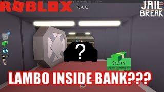 Roblox: JailBreak: Conduire un LAMBO INSIDE the BANK??? | Mythes Jailbreak Ep3