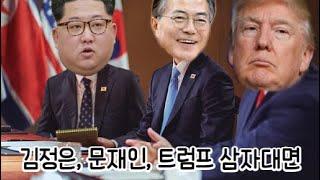 트럼프랑 문재인의 토론, 그리고 통역해주는 김정은(feat. 강철비)