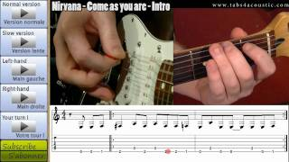 Nirvana - Come as you are - How to play / Comment jouer Mp3
