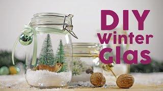 Süße Winterlandschaft im Einmachglas 🌲| DIY
