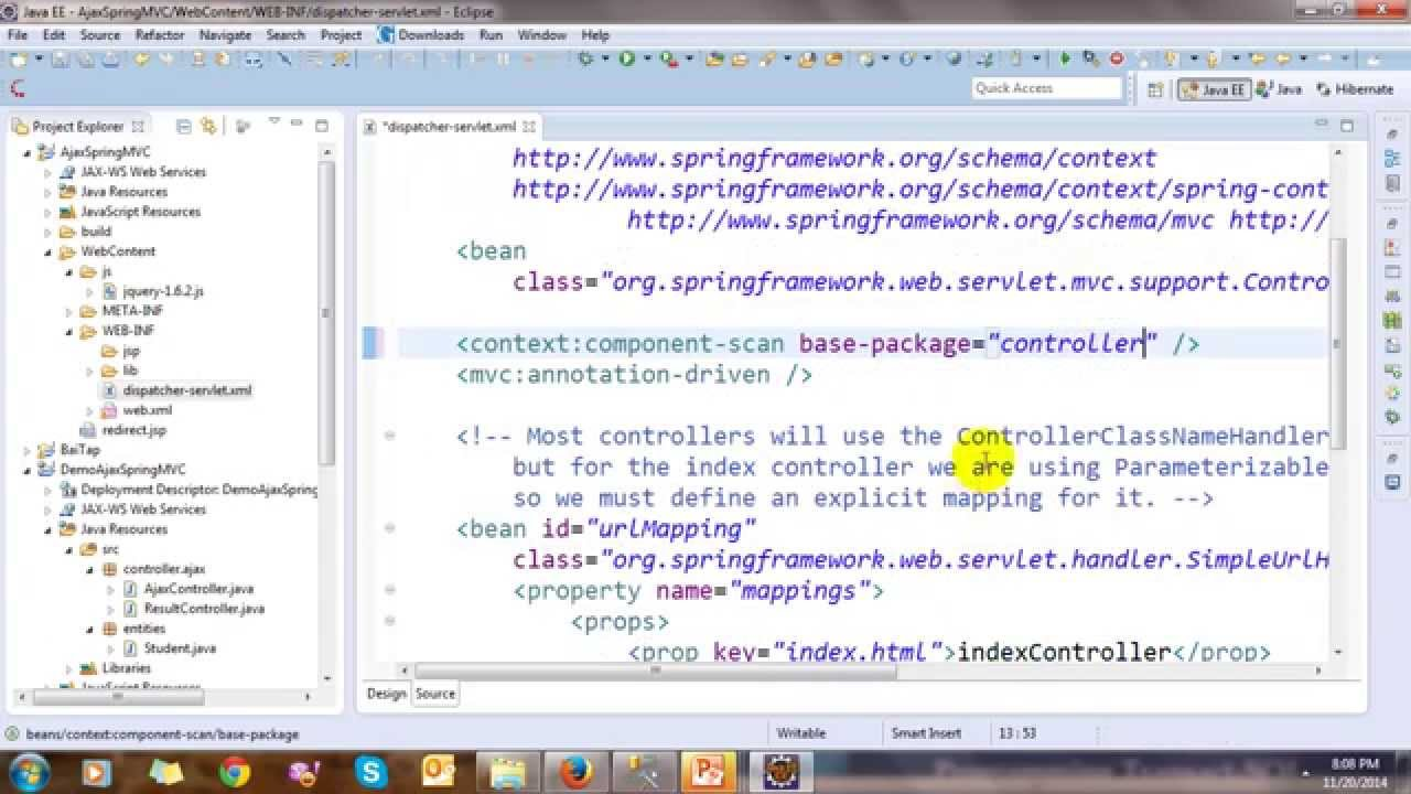 JSON and Ajax in Spring MVC Framework