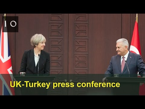 UK-Turkey press conference