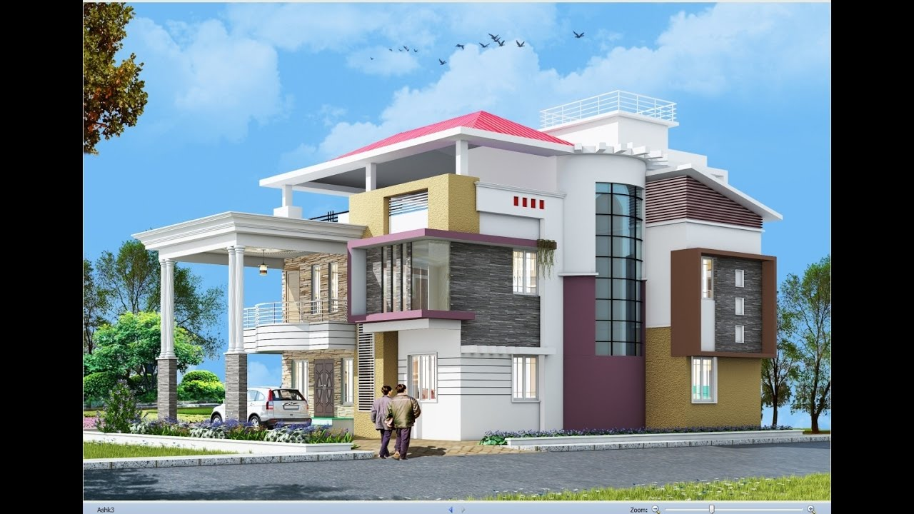 Front Elevation As Per Vastu : Ds max vray exterior rendering post production part