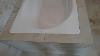 установка ванны своими руками.