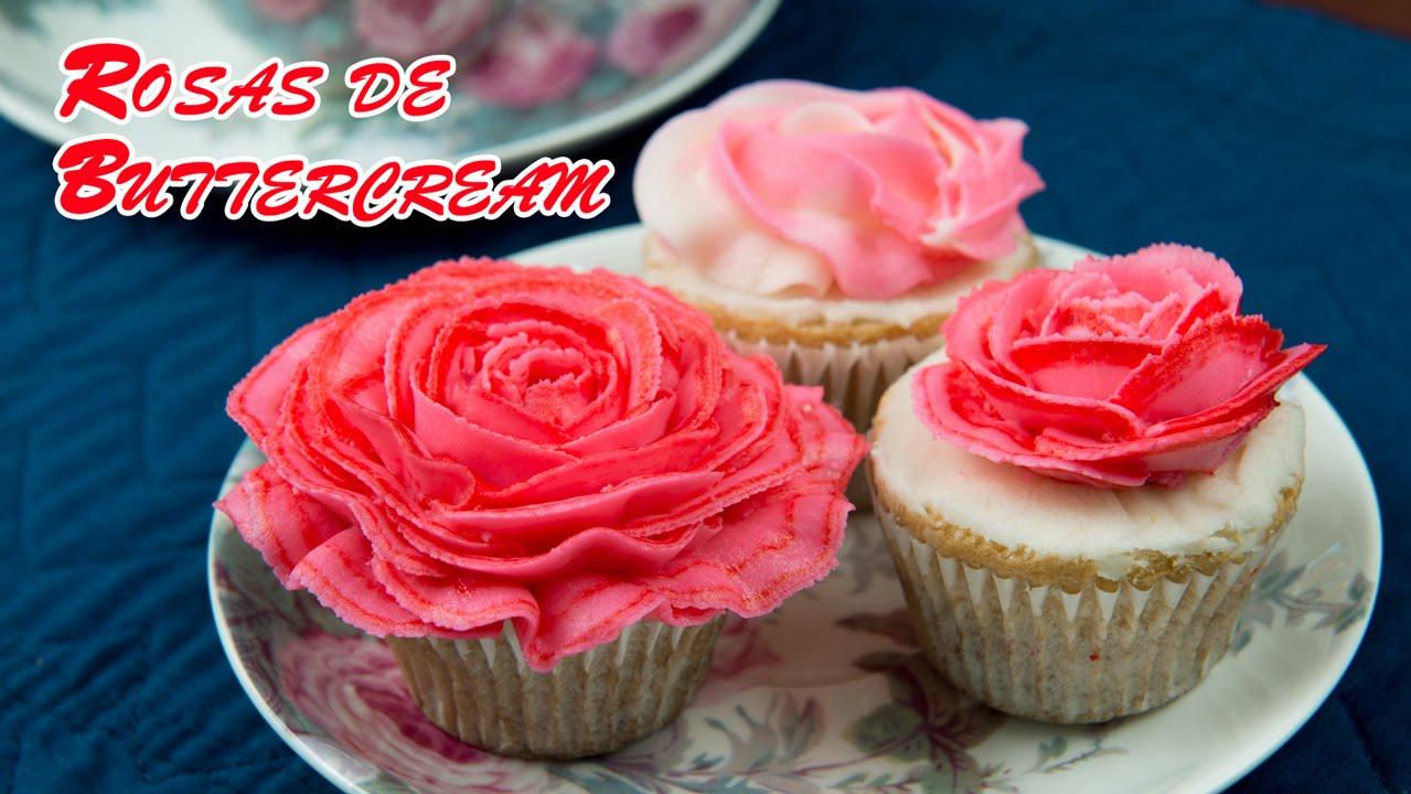 Rosas De Buttercream Para Decorar Tartas Y Pasteles