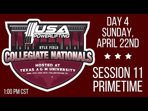 2018 USA Powerlifting Collegiate Nationals - Sunday Primetime
