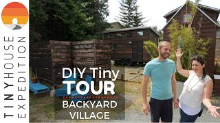 Family's Off Grid Tiny House In Charming Backyard Village