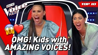 TOP 10 | MOST TALENTED SINGERS in The Voice Kids (part 2)! 😍