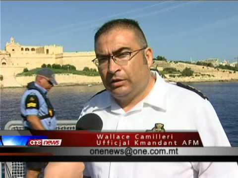 Il-Forzi Armati ta' Malta b'eżerċizzju ta' salvataġġ