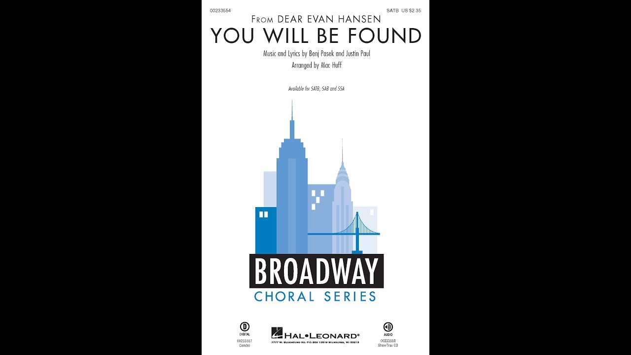 You Will Be Found Satb Choir Arranged By Mac Huff Youtube These lyrics are waiting for review. you will be found satb choir arranged by mac huff
