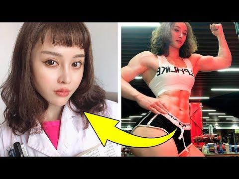 Лицо АНГЕЛА, Тело ДЬЯВОЛА: Азиатки шокировали весь мир мускулистой фигурой и милым личиком!
