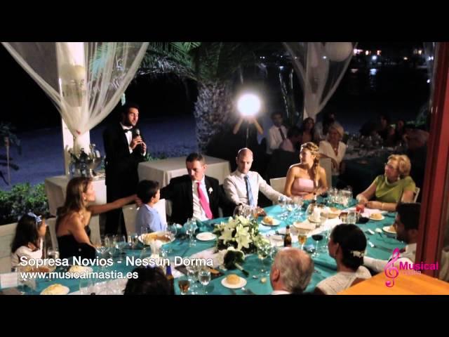 Sorpresa a la novia el día de su boda AREA SUNSET Musical Mastia Wedding