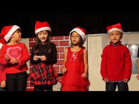 Cathlyn,Leilyn Jaslyn singing for their christmas concert Palmer Way
